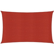 Voile d'ombrage 160 g/m² rouge 2x4 m pehd