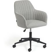 Madina - chaise de bureau pivotante à roulettes