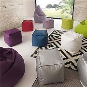 Pouf carré déhoussable coloré matheo