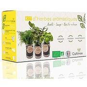 Cultivea – kit prêt à pousser d'herbes...