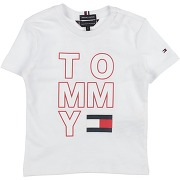 T-shirt tommy hilfiger garçon. blanc. 6...