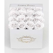Real roses that last a year -white velvet (pink)