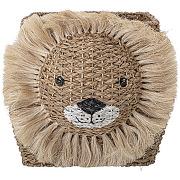 Harrison - panier forme lion en fibre naturelle