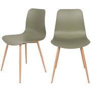 Leon - 2 chaises en résine