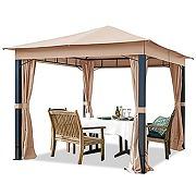 Toolport pavillon de jardin 3x3m alu premium...