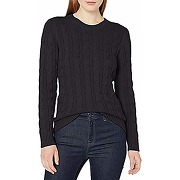 Amazon essentials long-sleeve 100% cotton cable...