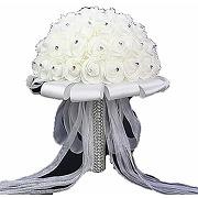Bouquet de mariage, fleurs artificielles en...