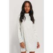Na-kd party creased effect long sleeve mini...