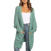 Ziyyoohy femme cardigan long tricot en maille...