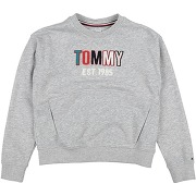 Sweat-shirt tommy hilfiger fille. gris clair....