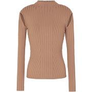 Knit cut-out detail mock-neck sweater col roulé...