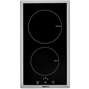Table induction inox 2 foyers beko hdmi32400dtx