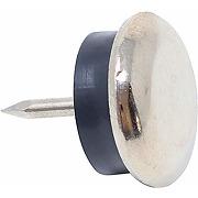 100 x patins en métal à clouer et caoutchouc...