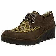 Fly london lael230fly, plate-forme femme, brun...