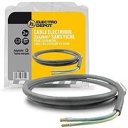 Câble d'alimentation électrique 3 x 4 mm²...