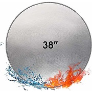 Tapis de foyer rond résistant au feu 96.5 cm -...