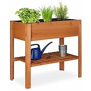 Relaxdays carré potager bois, légume, herbes,...