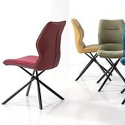 Chaise salle à manger bleue design ezo (lot de 2)