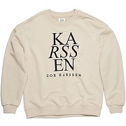 Rose zk logo relaxed fit sweater stone