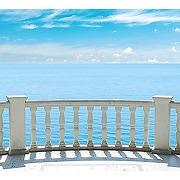 Scenolia tapisserie toile textile balcon sur la...