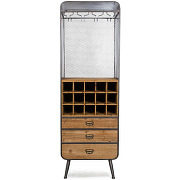 Vino - armoire bar à vins métal et bois
