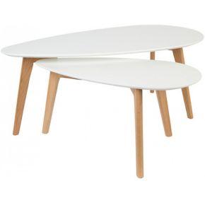 Drop - 2 tables basses laquées