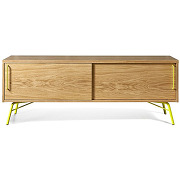 Ashburn - meuble tv design bois et métal