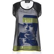 T-shirt dsquared2 femme. noir. 32 livraison...