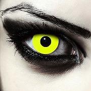 Designlenses, deux lentilles de couleur jaune...