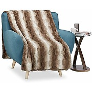 Relaxdays 10035311 plaid fausse fourrure,...
