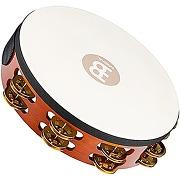 Meinl tambourin en bois avec peau et grelots en...