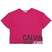 T-shirt calvin klein jeans fille. pourpre. 6...