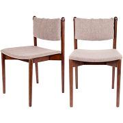 Torrance - 2 chaises en bois et tissu