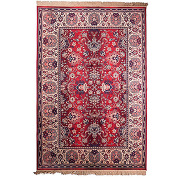 Old bid - tapis de salon persan rouge