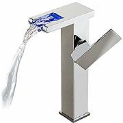 Robinet salle de bain - led cascade robinet...