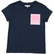 T-shirt tommy hilfiger fille. bleu foncé. 4...