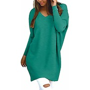 Style dome femme oversize pull tops col v...