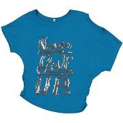 T-shirt met jeans fille. bleu d'azur. 6...