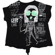 T-shirt custo barcelona fille. noir. 10...