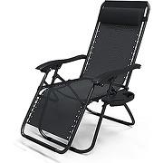 Vounot chaise longue inclinable avec support de...