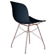 Chaise troy avec cadre en fil de fer - noir -...