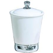 Interdesign 74001eu york boîte blanc/chrome