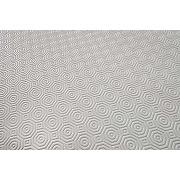 Soleil d'ocre sous nappe, pvc, blanc, 140 x 200 cm
