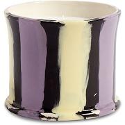 Hay bougie parfumée à rayures (300 g) - violet