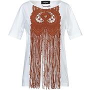 T-shirt dsquared2 femme. blanc. s livraison...