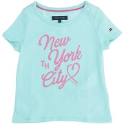 T-shirt tommy hilfiger fille. turquoise. 6...