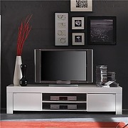 Meuble tv blanc laqué design tripoli