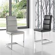 Chaise noire design argos (lot de 4)