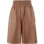 Leather pull-on bermuda shorts et bermudas 8 by...