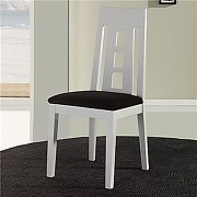 Chaise en bois clair avec coussin noir papel...